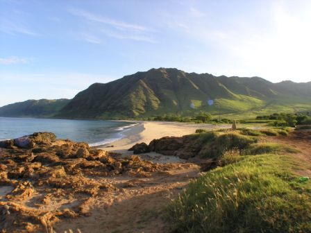 Oahu Beache In Hawaii Is Makua Beach